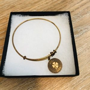 "Alex & Ani ""Good Luck"" Charm Bracelet"